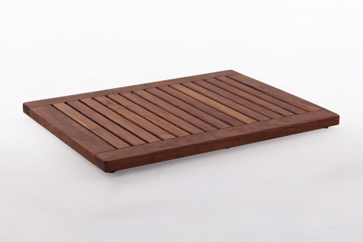 "Teak Shower Mat 17.7"" X 23.6"" In With Frame"