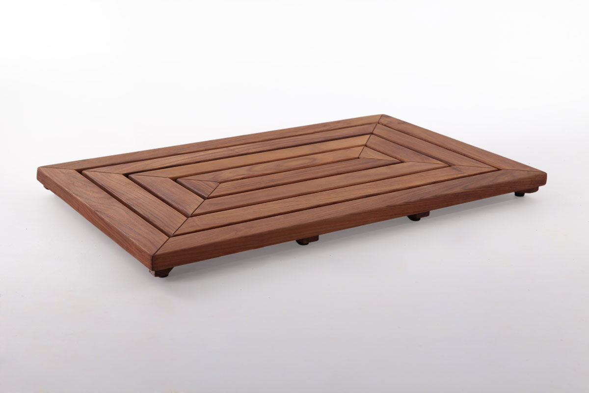 "Teak Shower Mat 19.6"" X 31.4"" In"