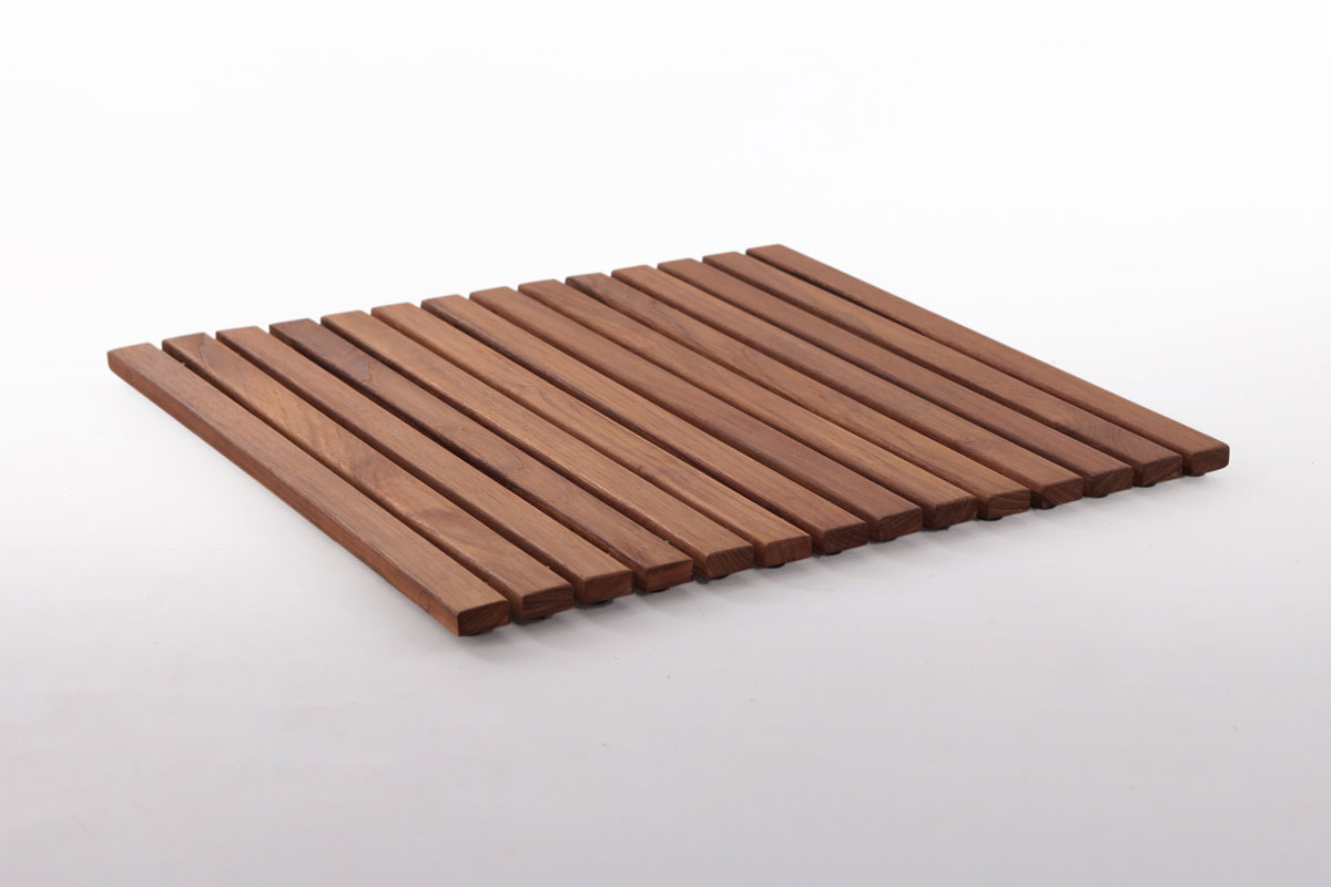 "Teak String Tile 19.6"" X 19.6"" In"
